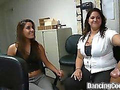 Group Office Blowing Orgy on Dancingcock