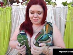 Hot BBW Angelina Castro & 2 BBW Friends succhiare il grande gallo nero!