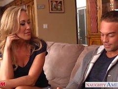 Chesty blonde mom Brandi Love take cock