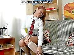 Hard fuck for a naughty schoolgirl