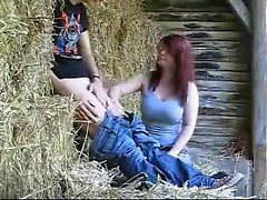 Getting fucked in the hay barn