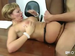Big tits blonde lady fucked hardcore in the office