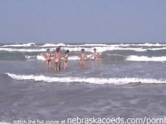 Senior Trip Girls on the Beach Skinny Dipping