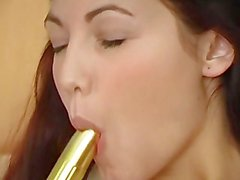 Hot Chick Plays With Vibrator