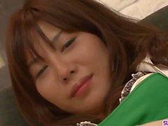 Karen Natsuhara loves a big cock choking her