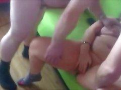 Amateur BBW wife having an orgy