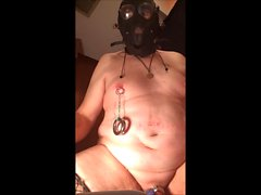 whore-slave1 candle wax on cage