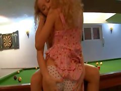 Lesbo revenge on the billiards