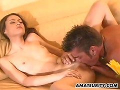 Amateur couple home hardcore action