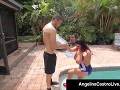 Cubas Porrstjärnan Angelina Castro Gets A Big Black Cock & Cum