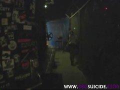 XXX Suicide Goth tätowierten slug hinter der Bühne Fick