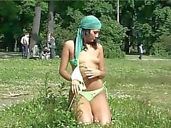 very beautiful girl filmed all naked in public
