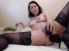Sexy babe does anal sex and toys her hot ass with plug