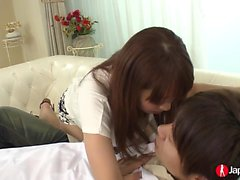 Fantastic Japanese babe with a great booty loves having fun