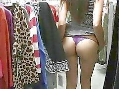 Felicia hot latina MILF sem calcinha piscando bunda e peitos e piscando e brincando buceta