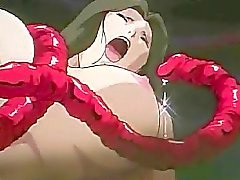 A raging tentacle gangbang orgy