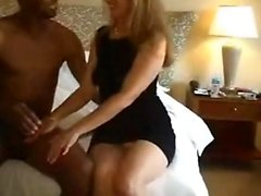 hard doggy for nice milf on bed