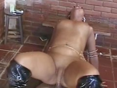 Nice shemale fucked in boots