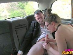 FemaleFakeTaxi Belgium porn stud fucks hard