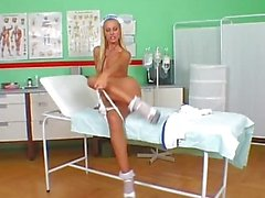 Horny Nurses in Uniform Masturbating and Fisting