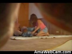 Gorgeous redhead college chick fucked on hidden cam