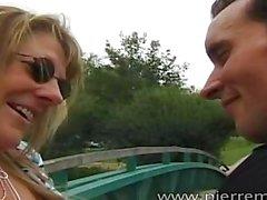 Maman blonde fran