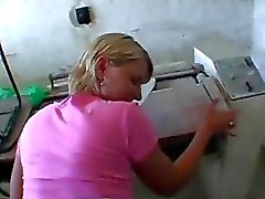 Married blonde payed and anal in public
