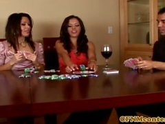 CFNM housewives dominate with bj in threesome
