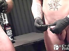 Del alessio lidera a Shane en el las pajas con una varilla de hasta su pene