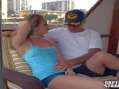 Hot stripper Lia teases Jay on boat