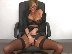 Naughty Milf in Black Stockings