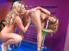 Two heavy chested blonde lesbians doing 69 with pussy licking