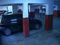 Security cam Fucking in the parking