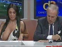 Marika Fruscio Nip Slip On TV - Italian TV Scandal