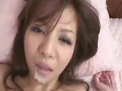 Exciting Japanese babe wildly fucks a raging pole and gets