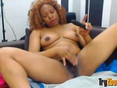 Black Destiny gets squirting orgasm