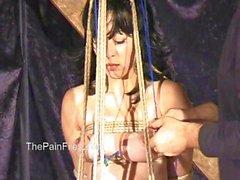 Asian amateur bondage and tit tortures of suspend