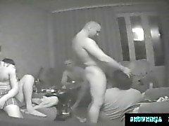 Dolda kamerasexshower Gang Ryska Marines och lastbilsförare