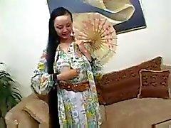 Азиатских Девка Анж Venus получает выебанная в