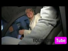 Blonde Ex Girlfriend Rides my Cock in my Car