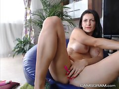 Solo Act With A Dirty Suckable-Titted Tramp And Her Toy