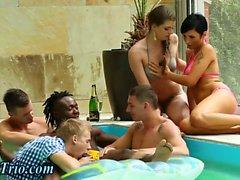 Sexy interracial orgy