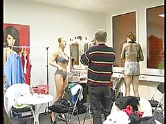 Lucky old man gets to film some babes undress