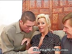 Mature Wifey Offered New Cum