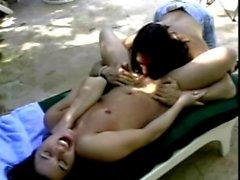 Cute teen is anal fucked like an ape by muscular Tarzan in jungle resort
