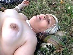 Granny BBW Lesbians Eat Each Other on a Picnic