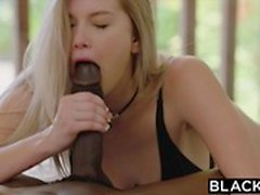 blacked Blonde Gets First BBC from Brothers Friend