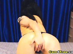 Russian Brunette Gets Her Snatch Screwed From Behind