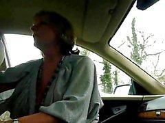Granny Jasmine Shows Off Her Oral Skills in a Car Again!
