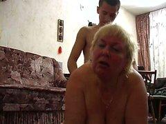 BBW Granny fucks young dick